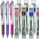 Pentel EnerGel BL77 0.7mm Retractable Liquid Gel Pens (4pcs) + Refills (8pcs) - Assorted #16018