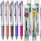 Pentel EnerGel BL77 0.7mm Retractable Liquid Gel Pens (8pcs) + Refills (8pcs) - Assorted #16016