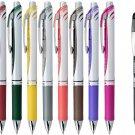 Pentel EnerGel BL77 0.7mm Retractable Liquid Gel Pens (Pack of 8) + Black Pen - Assorted #16014