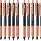 Zebra Sarasa Clip Decoshine JJ15 0.5mm Gel Ink Pens (Pack of 10) - Shiny Orange #16233