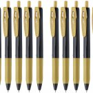 Zebra Sarasa Clip Decoshine JJ15 0.5mm Gel Ink Pens (Pack of 10) - Gold #16236