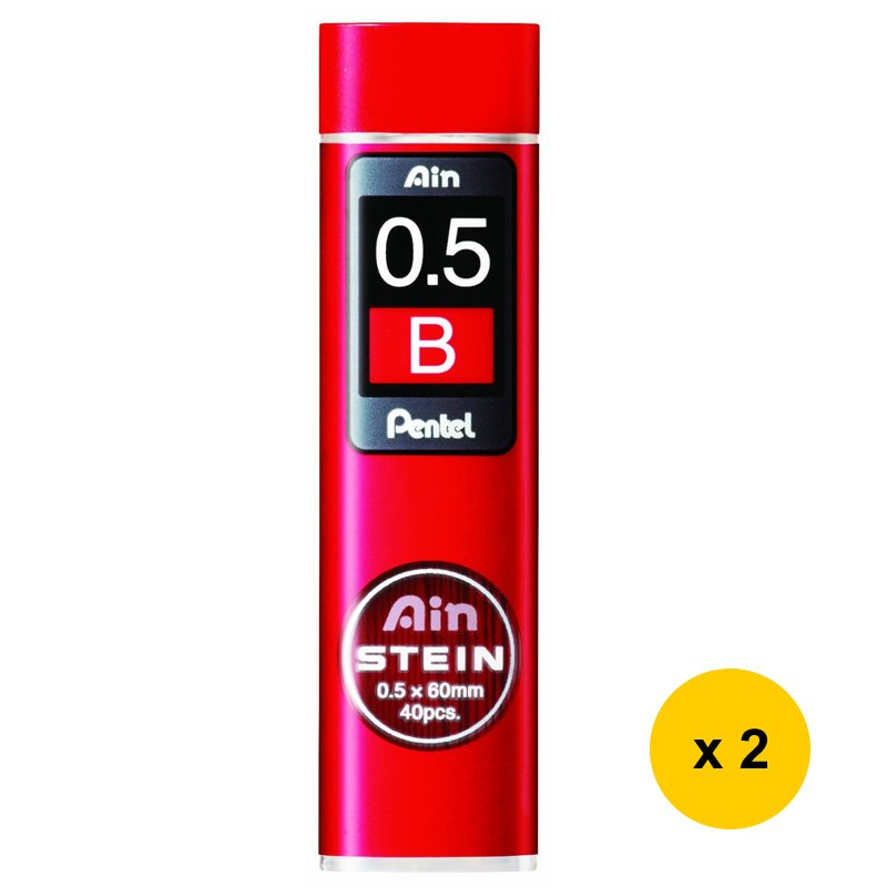 Pentel Ain Stein C275-B 0.5mm Refill Leads (2tubes) #9304