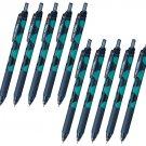 Pentel EnerGel-S Limited Cat Series BLN123 0.3mm Retractable Gel Pens (Pack of 10) - Russian Blue/Bl
