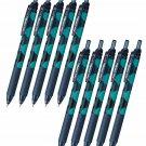 Pentel EnerGel-S Limited Cat Series BLN125 0.5mm Retractable Gel Pens (Pack of 10) - Russian Blue/Bl