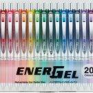 Pentel Energel BLN75Z 0.5mm Retractable Gel Pens (Pack of 20) - Assorted #16459