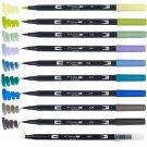 Tombow ABT Dual Brush Pens (Brush Tip + 0.8mm Fine Tip) 10-Color Set - Landscape #16310