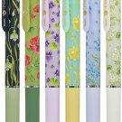 Pentel Vicuna Feel BX115 0.5mm Ballpoint Pens (Pack of 6) (Limited HIBIYA KADAN Flowers Pattern) - B
