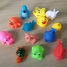 13 Pcs Rubber Float Animals Water Toys