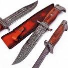 Hunt for Life Nightmare Howler Damascus Steel Hunting Knife