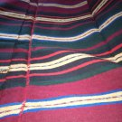 Rug Handwoven Antique 100%Wool red stripes