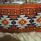 Hand-embroidered pillows Orange Autumn Antique