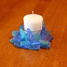Hand made Beach Glass Candle Holder