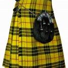 New Macleod of Lewis Men's 8 Yard Tartan Kilt 13 oz. Highland Scottish 56 Waist Size Casual Kilt
