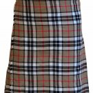 Traditional 5 Yard Scottish Kilt Waist 46 Size Highland Camel Thompson Tartan Kilt Custom Size Skirt