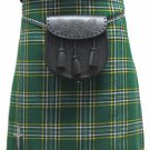 National Irish Tartan / Plaid 5 Yd 13 Oz. Waist 56 Size Kilt Formal & Everyday Celtic Highland Kilt