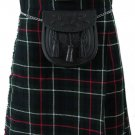 Formal & Everyday Celtic Highland Kilt Waist 26 Size Kilt Mackenzie Tartan / Plaid 5 Yard 13 Oz.