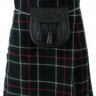 Formal & Everyday Celtic Highland Kilt Waist 42 Size Kilt Mackenzie Tartan / Plaid 5 Yard 13 Oz.