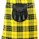 Macleod of Lewis Men's 5 Yard Scottish Kilt Waist 58 Size Tartan Kilt 13 oz Highland Casual Kilt