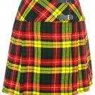"""Buchanan Mini Billie Kilt Mod Skirt Girls Short Length Kilt Skirt 27"""" Waist Tartan Pleated Kilt"""