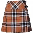 "Camel Thomson Mini Billie Kilt Mod Skirt Ladies Short Length Kilt 45"" Waist Tartan Pleated Kilt"