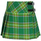"Mini Billie Kilt Mod Skirt Ladies Short Length Kilt 42"" Waist Tartan Pleated Kilt Irish National"