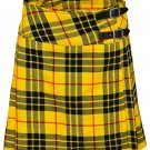 "Macleod of Lewis Mini Billie Kilt Mod Skirt Ladies Short Length Kilt 38"" Waist Tartan Pleated Kilt"