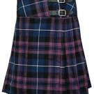 "Pride of Scotland Mini Billie Kilt Mod Skirt Ladies Short Length Kilt 50"" Waist Pleated Skirt"