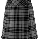 """Ladies Knee Length Dress Skirt 32"""" Waist Leather Straps Kilt Gray Watch Mini Billie Kilt Skirt"""