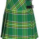 """Ladies Knee Length Dress Skirt 40"""" Waist Leather Straps Kilt Irish National Mini Billie Kilt Skirt"""