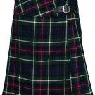 """Leather Straps Kilt Ladies Knee Length Dress Skirt 28"""" Waist Mackenzie Mini Billie Kilt Skirt"""