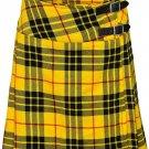 "Leather Straps Kilt Ladies Knee Length Dress Skirt 27"" Waist McLeod of Lewis Mini Billie Kilt Skirt"