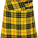 "Leather Straps Kilt Ladies Knee Length Dress Skirt 34"" Waist McLeod of Lewis Mini Billie Kilt Skirt"