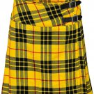 "Leather Straps Kilt Ladies Knee Length Dress Skirt 42"" Waist McLeod of Lewis Mini Billie Kilt Skirt"