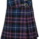 """Pride of Scotland Mini Billie Skirt 27"""" Waist Leather Straps Kilt Ladies Knee Length Dress Skirt"""