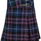 """Pride of Scotland Mini Billie Skirt 36"""" Waist Leather Straps Kilt Ladies Knee Length Dress Skirt"""