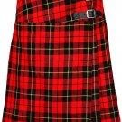 """Wallace Mini Billie Kilt Skirt 34"""" Waist Size Leather Straps Kilt Ladies Knee Length Dress Skirt"""