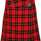 """Wallace Mini Billie Kilt Skirt 35"""" Waist Size Leather Straps Kilt Ladies Knee Length Dress Skirt"""