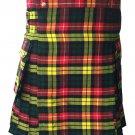 "Men's Tartan Utility Kilt Waist 38"" Size Highland Buchanan Tartan Kilt Handmade Scottish Kilt"