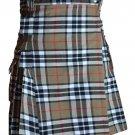"Highland Camel Thomson Tartan Kilt Men's Tartan Utility Kilt Waist 42"" Size Handmade Scottish Kilt"