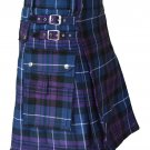 "Scottish Highland Active Men Utility Kilt 28"" Waist Size Handmade Pride of Scotland Tartan Kilt"