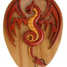 Red Dragon Handmade Intarsia Puzzle Box