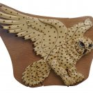 Snow Owl Handmade Intarsia Jewelry Box