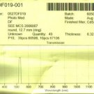 Precision Interference Filter 530DF20 12.5mm NOS