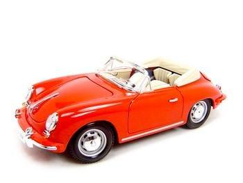 1961 PORSCHE 356B 356 CABRIOLET RED 1:18 DIECAST MODEL