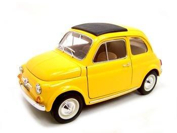 1965 FIAT 500L YELLOW 1:18 DIECAST MODEL