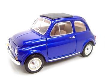 1965 FIAT 500L HT BLUE 1:18 DIECAST MODEL