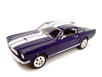 1966 SHELBY MUSTANG GT-350 BLUE 1:18 DIECAST MODEL