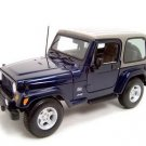 JEEP WRANGLER SAHARA DARK BLUE 1:18 DIECAST MODEL