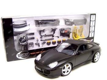 PORSCHE 911 TURBO FLAT BLACK W/PARTS 1:18 MODEL