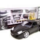 PORSCHE 911 TURBO FLAT BLACK W/PARTS 1:18 MODEL